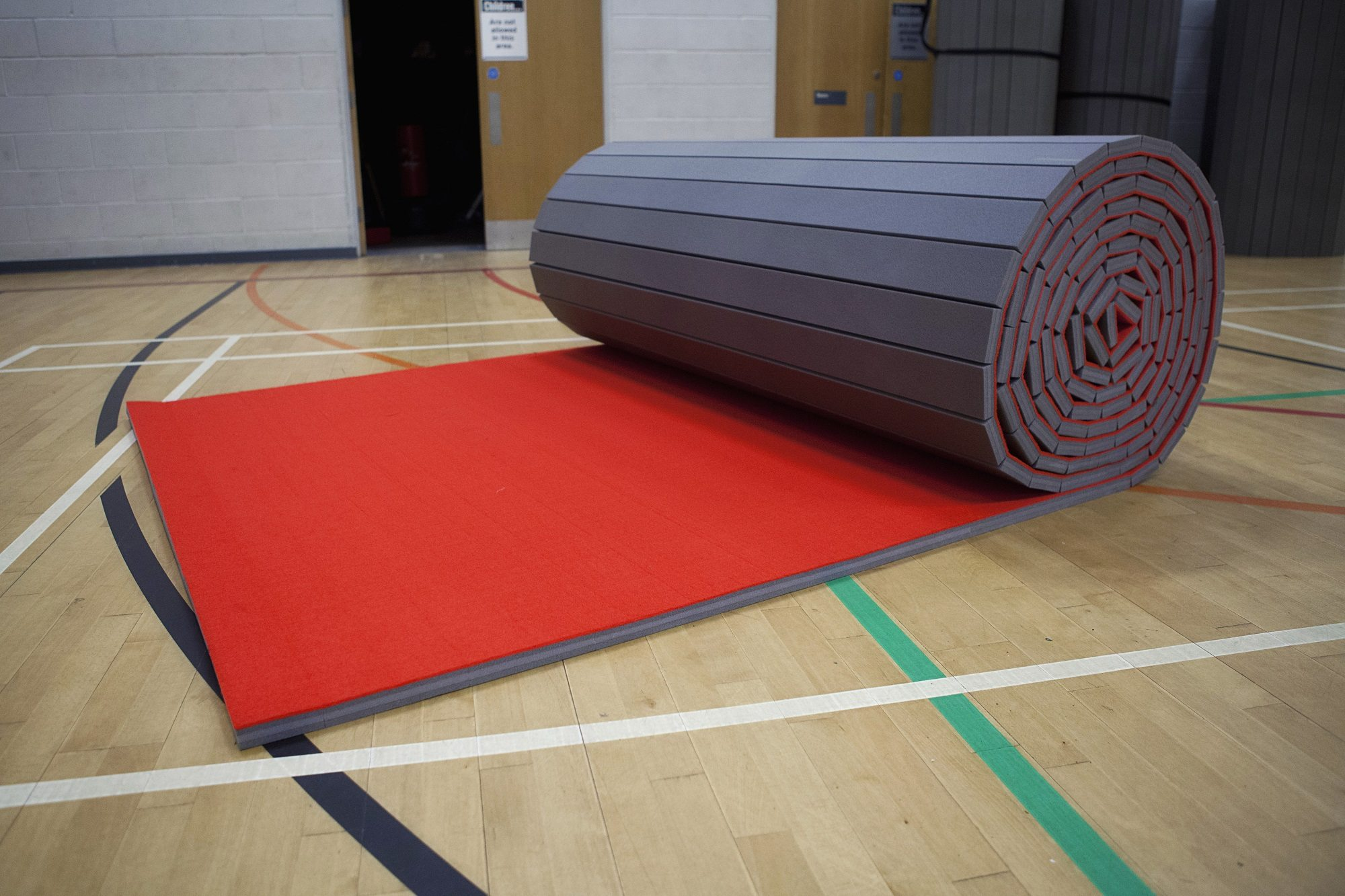 Red Promat Carpet Roll Out Mats