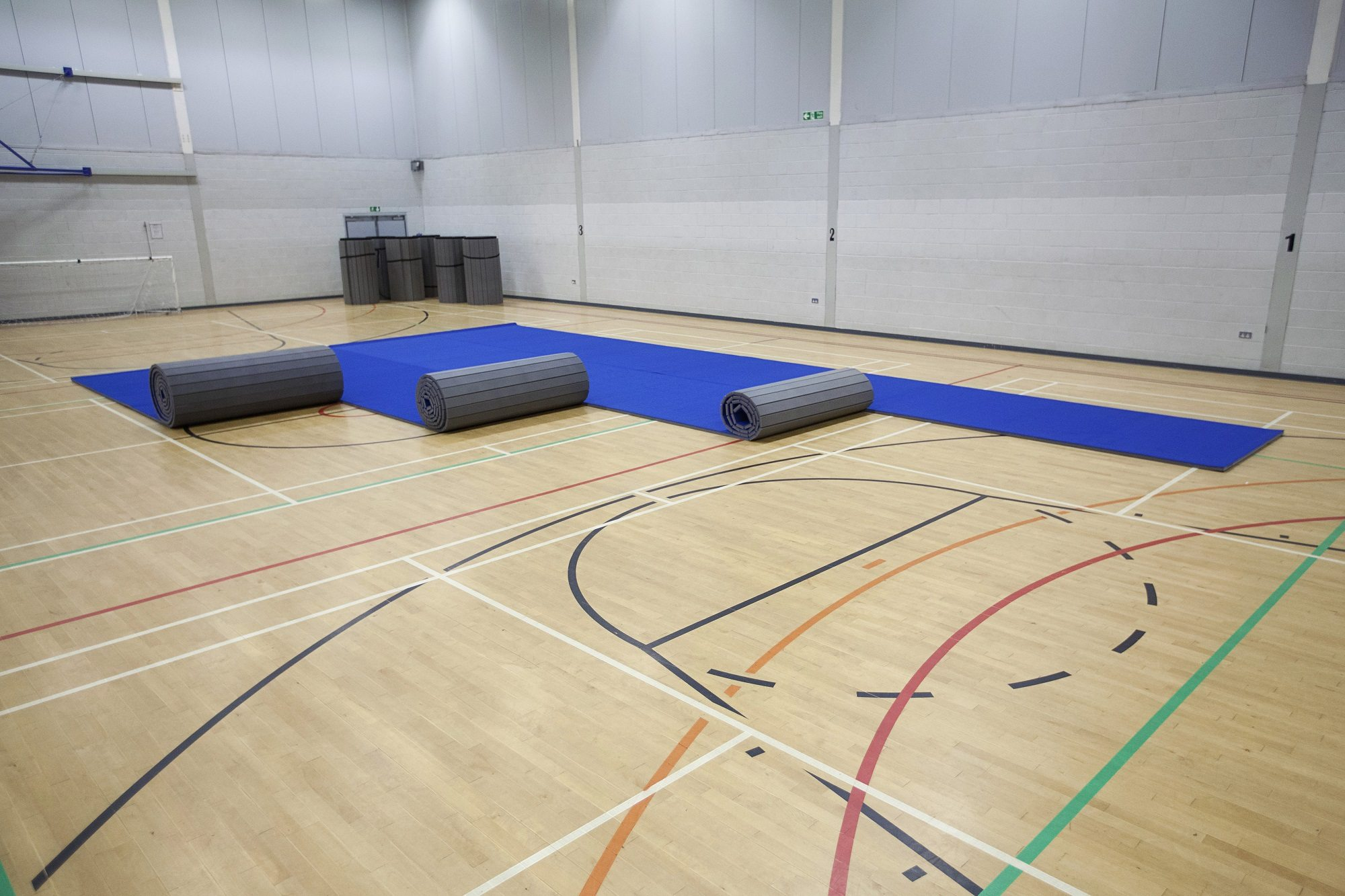 Promat Carpet Roll Out Mats For Sports Halls