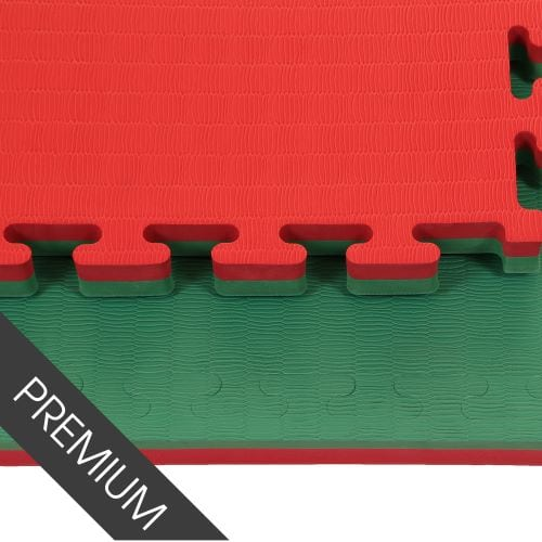 Promat 40mm Green/Red Jigsaw Mats - Tatami Finish