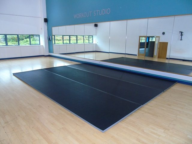 Black Promat PVC Tatami Roll Out Mats
