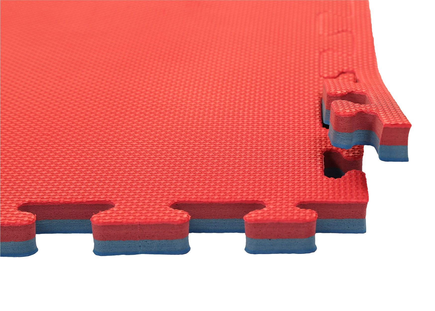 Blue And Red 20mm Jigsaw Mat Foams4sports Gym Flooring